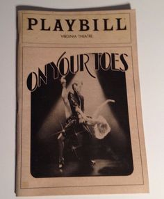 Playbill 1983 On Your Toes Virginia Theatre Dina Merrill NYC Broadway Theater