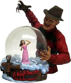 Nightmare On Elm Street snow globe...I need to get this for my seester!