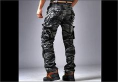 Mens Army Camouflage Cargo Pants