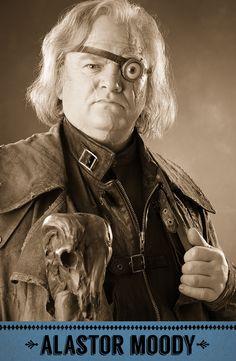 "Alastor ""Mad-Eye"" Moody, Defence Against the Dark Arts professor. #HarryPotter #Hogwarts #Moody"