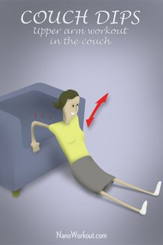 Couch Dips - Easy exercises on the sofa, even in front of the TV!