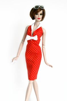Red and White Polka Dot Dress for Barbie by Chic Barbie Designs on Etsy