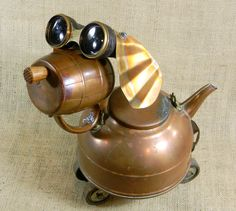 Copper Robot Dog  PENNY 2  Reclaim2Fame  by reclaim2fame on Etsy,  How cute is this.