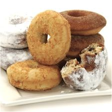 From King Arthur Flour: Baked Doughnuts Three Ways (chocolate chip, coconut, or cinnamon sugar)