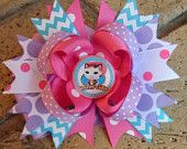 Sheriff Callie's Wild West Inspired Custom Boutique Stacked Layered Hair Bow Sheriff Callie Hair Bow for Birthday Party