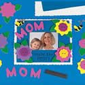 Mom's photo frame craft. Mothers Day crafts. http://www.apples4theteacher.com/holidays/mothers-day/kids-crafts/mom-photo-magnet.html