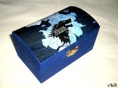 Game of Thrones blue wooden box  Westeros House by UrdHandicrafts, $35.00