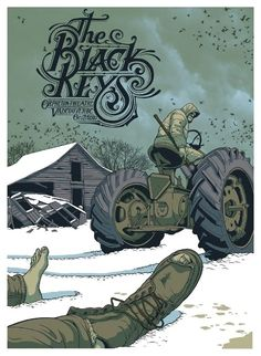 The Black Keys concert poster by Jeff Proctor - design inspiration Tour Posters, Band Posters, Music Posters, Retro Posters, Design Graphique, Art Graphique, Music Artwork, Art Music, Poster On