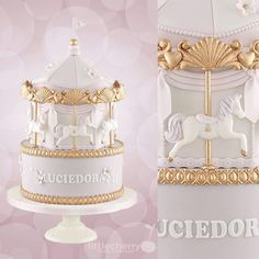 A post from Carousel cake Carousel Cake, Carousel Party, Baby Shower Sweets, Baby Shower Cakes, First Birthday Cakes, Birthday Parties, Cake Company, Cake Land, Crown Cake