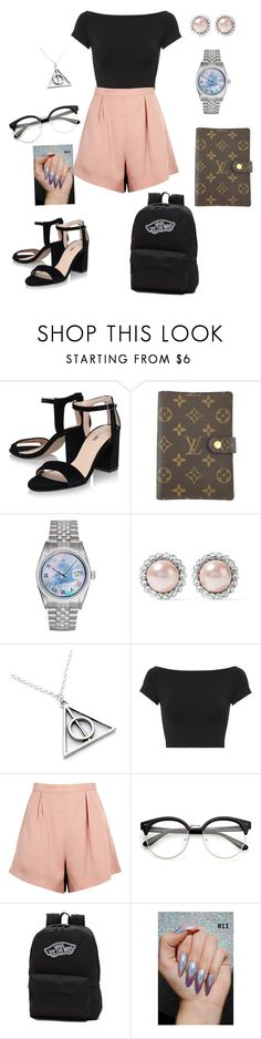 """Back to school"" by madzzbrookez on Polyvore featuring Louis Vuitton, Rolex, Miu Miu, Helmut Lang, Finders Keepers and Vans"