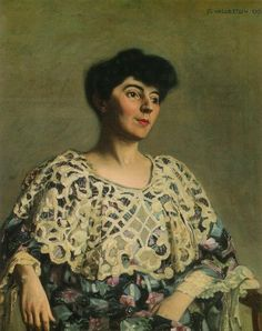 """Portrait de Marthe Mellot"", by Félix Vallotton (Swiss, 1865–1925)."