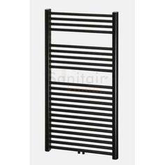 Haceka Gobi design radiator 162x59cm zwart, 6 punts itemprop=