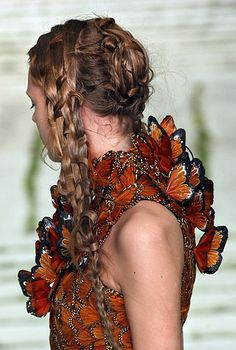 An Alexander McQueen butterfly dress. Would love the raised wing detail further down on the dress.