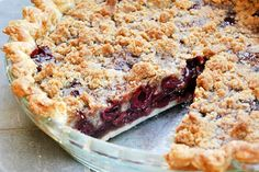 "The Perfect Pie: Cherry Crumble Pie ""I'll never turn down a slice of juicy cherry pie, but add a sweet, buttery crumble topping to it, and I..."