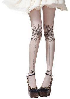 Halloween Spider Silk Stockings