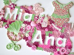 Ayani art: Quilling baby girl name