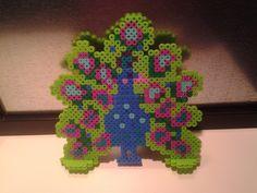 Peacock perler beads by Craft Geek from Gallifrey.
