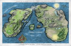 Middle-earth and the Undying Lands  Because I can always use another pin of a map of Arda