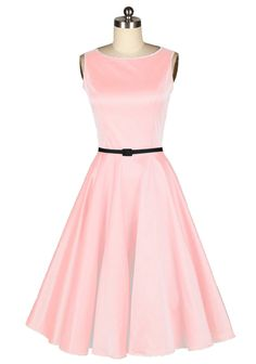 Audrey hepburn,50s style,pin up girl,prom dress,vintage dress,fashion dress,evening dress,party dress,fancy dress,pink dress $59.99