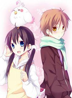 Tamako love story-Mochizou e Tamako HYra Anime Cupples, Otaku Anime, Kawaii Anime, Anime Boys, Anime Love Couple, Cute Anime Couples, I Love Anime, Couple Art, Vocaloid