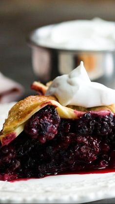 Recipe with video instructions: This classic pie made with sweet, plump fresh blackberries would make your Nana proud. Ingredients: Pie dough:, 2 2/3 cups all-purpose flour, plus more for dusting, 2 tablespoons granulated sugar, 1 1/2 teaspoons kosher salt, 1 cup (2 sticks) cold, unsalted butter, diced into cubes, 10 to 12 tablespoons ice water, Blackberry filling:, 6 pints blackberries, 1/2 cup granulated sugar, 1/4 cup cornstarch, 1 tablespoon Chambord, or other blackber...