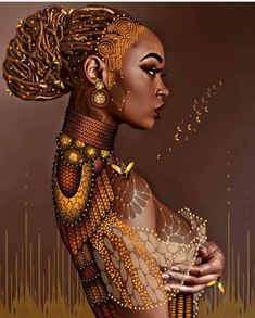 5D Figure Diamond Painting African Women Diamond Painting Full Diamond Home Decoration Painting