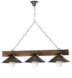 lamparas de techo rusticas - Buscar con Google