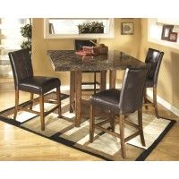 Lacey Square DRM Counter Table & 4 UPH Side Chairs