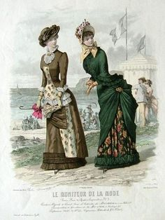 Victorian Fashion plate, Moniteur de la Mode 1882