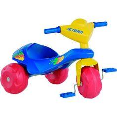 Triciclo Bandeirante Jet Ban, uma diversão para seu filho.    No tamanho da imaginação e diversão da criançada.