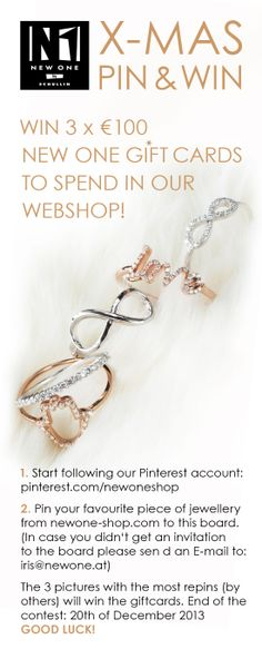 ★★ X-MAS ★ PIN & WIN ★★ WIN 3 x €100,- GIFTCARDS TO SPEND IN OUR WEBSHOP Schmuck Online Shop, Schmuck Design, Fashion Beauty, Invitations, Jewels, Personalized Items, Pretty, Arm, Gifts