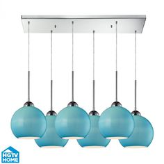 Cassandra 6 Light Pendant In Polished Chrome And : 9M1RH | The Lighting Gallery