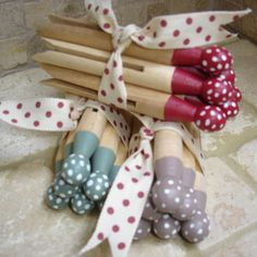 Handpainted Spotty Dolly Clothes Pegs - Folksy