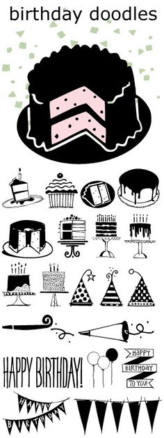 NOT FREE-Birthday Doodles font.... great for cards, invitations, and scrapbooking all your parties.