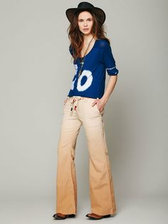 Free People Ombre Linen Wideleg Pants, $29.95