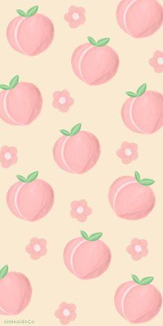 Peach Wallpaper, Emoji Wallpaper, Kawaii Wallpaper, Pastel Lockscreen, Friend Cartoon, Whatsapp Wallpaper, Peach Aesthetic, Manga Anime Girl, Cute Patterns Wallpaper