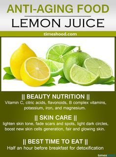24 Best Anti-Aging Foods for Glowing Skin Lemon Juice for anti-aging. Rich in anti-aging vitamins C that remove scars and spots. Best ant-aging foods and drinks for younger looking skin. Anti Aging Tips, Best Anti Aging, Anti Aging Cream, Anti Aging Skin Care, Younger Skin, Younger Looking Skin, Food For Glowing Skin, Best Time To Eat, Wie Macht Man