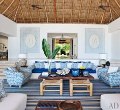 Exotic Living Room by Martyn Lawrence Bullard in Punta Mita, Mexico