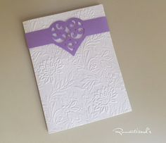 Partecipazione con chiusura a Cuore by Romanticards , by Romanticards e Little Rose Handmade, 1,60 € su misshobby.com