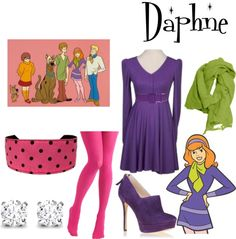 """""""DIY: Daphne Costume"""" by missstevierae on Polyvore"""
