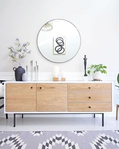 Head sculptures and plants are my top no-fail decor accessories🗿🌿 Happy long weekend my friends🖤 {sources are tagged👆🏻} Decor, Home Decor Accessories, Interior, Mid Century Modern Sideboard, Home Decor, Dining Room Sideboard, Sideboard Styles, Sideboard Decor Dining Room, Credenza Decor
