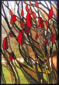 stained glass window - staghorns