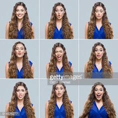 Stock-Foto : Young woman making facial expressions