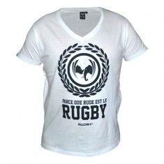 Le T-shirt sérigraphié Antho blanc by Rudby vous accompagne au quotidien en garantissant confort et élégance. #rudby