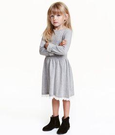 Knit Dress | Gray melange | Kids | H&M US