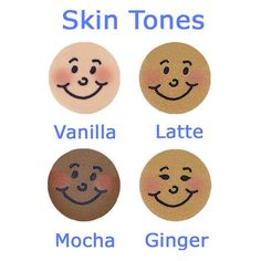 Skin tones available for Curly Girlz Pins. #CurlyGirlz