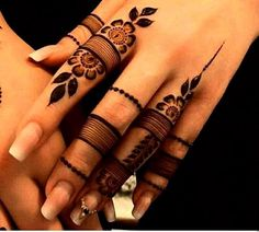 finger mehendi designs 2019