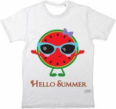 Kinder T-Shirt Hello Summer No2 von MilaLu auf DaWanda.com