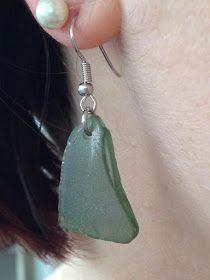 MeerSchmuck: Grüne Seeglas Ohrhänger