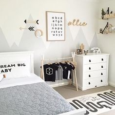 How lovely is this little boy's room by @myhomestyle89 Featuring the popular OYOY Adventure rug, available in our online store . #kidsroom #kidsroomdecor #nordichome #nordicinspiration